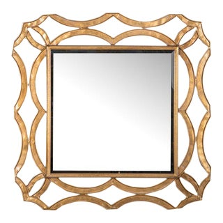 Royal Metal & Glass Wall Mirror For Sale