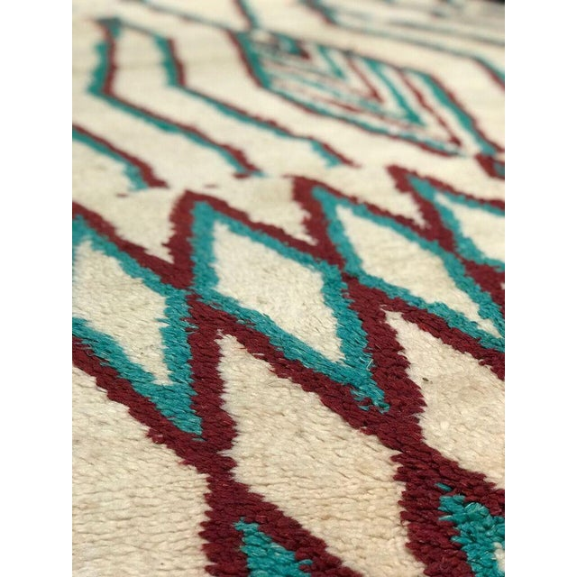 """Traditional Bellwether Rugs Vintage Azilal """"Caden"""" Rug - 3'7"""" X 7'3"""" For Sale - Image 3 of 5"""