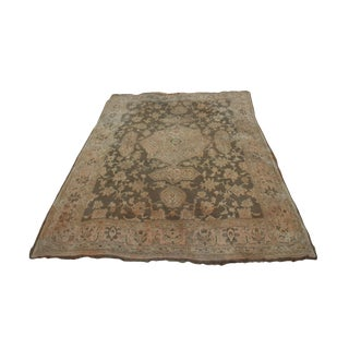 Early 20th Century Turkish Oushak Rug - 12′4″ × 14′10″ For Sale
