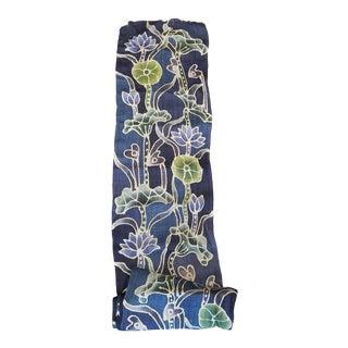 Hand Spun Roll Floral Batik Hemp Fabric For Sale
