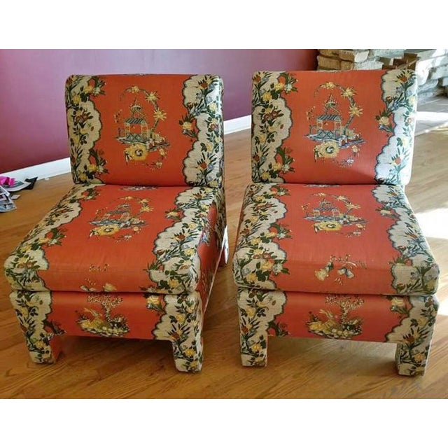 Vintage Chinoiserie Accent Chairs - A Pair For Sale - Image 11 of 11