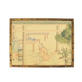 Antique Chinese Painting on Silk For Sale
