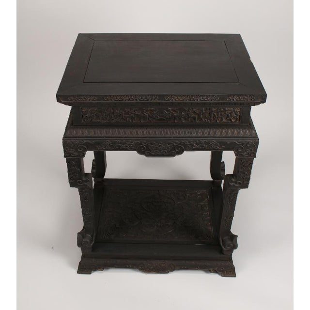 Antique Chinese Zitan Side Table For Sale - Image 4 of 11