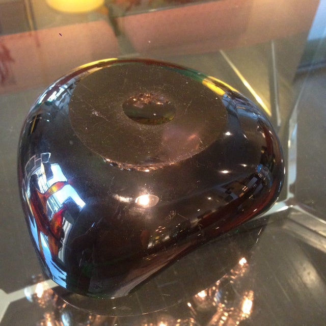 Vintage Murano Glass Copper Aventurine Bowl For Sale - Image 5 of 9
