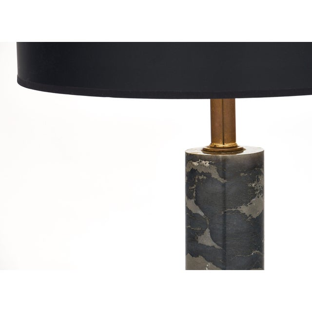 Modern French Modernist Marble Table Lamp For Sale - Image 3 of 8