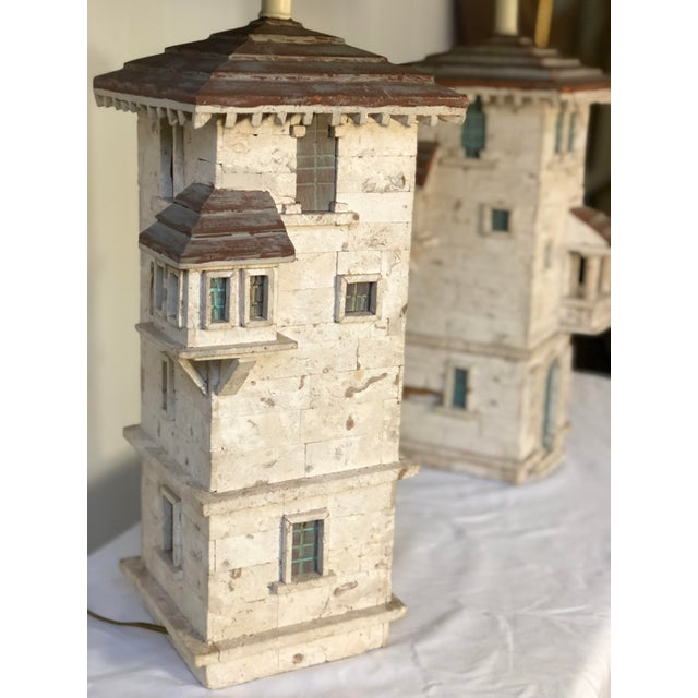 Pair of Mediterranean Villa Table Lamps For Sale - Image 4 of 10