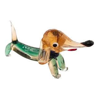 1960s Murano Glass Dog Sculpture For Sale