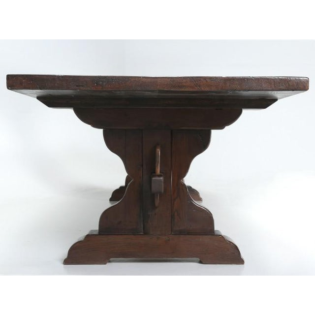 Antique French Oak Trestle Dining Table For Sale - Image 9 of 11