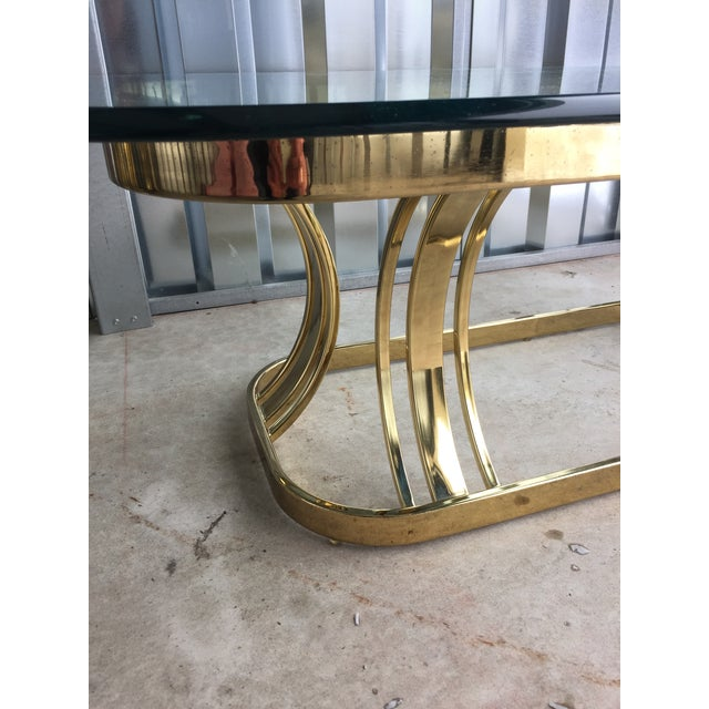 Hollywood Regency Sculptural Gold & Glass Coffee Table - Image 5 of 8