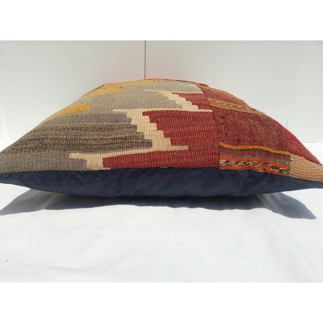 Turkish Kilim Pillow Cover For Sale - Image 5 of 6
