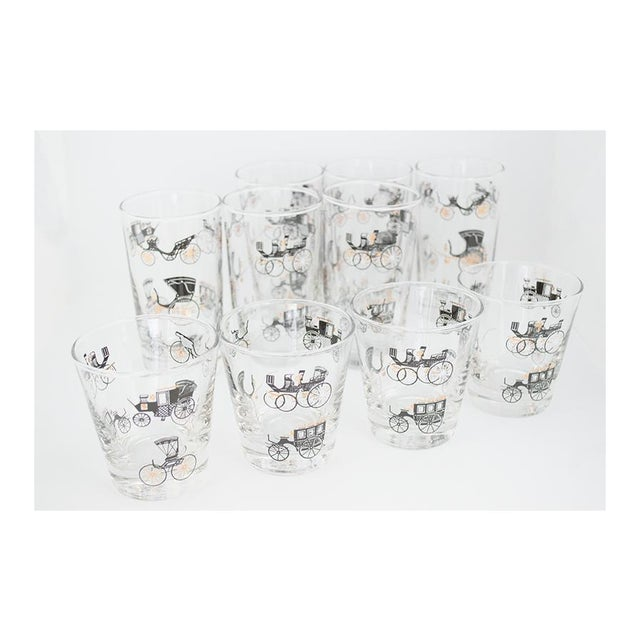 This whimsical cocktail glass set is from Libbey Glass Company's 'Curio' collection. Produced in 1952 and made by designer...