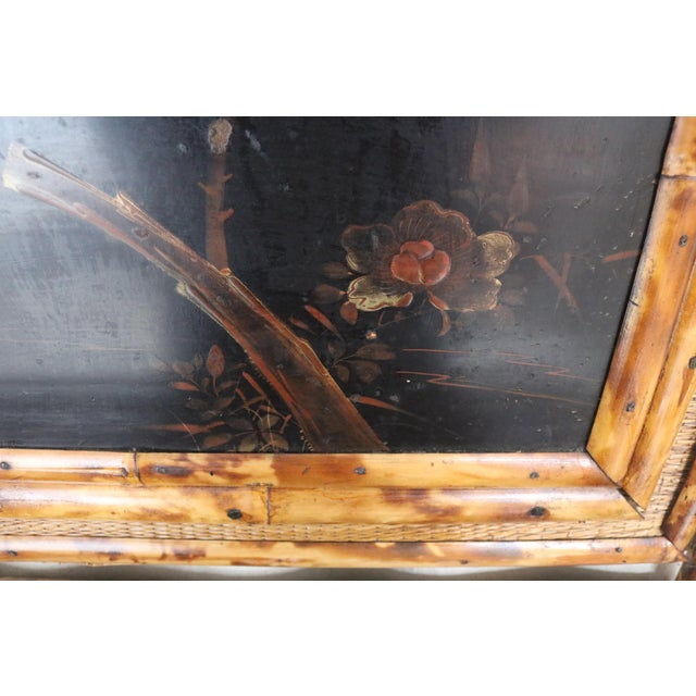 19th Century English Bamboo Vanity Cabinet For Sale - Image 6 of 13