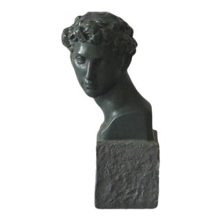 1960s Plaster Bust of David For Sale