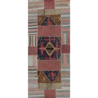 """Vintage Patchwork Area Rug-2'10"""" X 6'9"""" For Sale"""