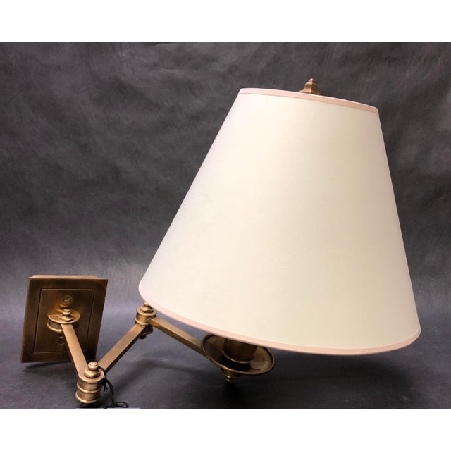 Brass Studio Vc for E. F. Chapman Triple Swing Arm Wall Lamp For Sale - Image 7 of 7