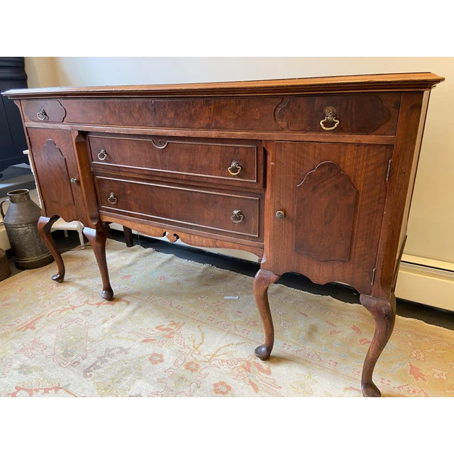 Wood Antique French Mahogany Sideboard For Sale - Image 7 of 10