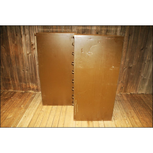 Vintage Industrial Metal Filing Cabinets - Pair - Image 6 of 11