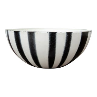 Vintage Black and White Cathrineholm Striped Bowl by Grete Prytz Kittlesen For Sale