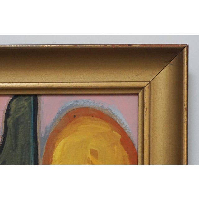Abstract Abstract Painting in a Vintage Frame by Shawn Savage For Sale - Image 3 of 6