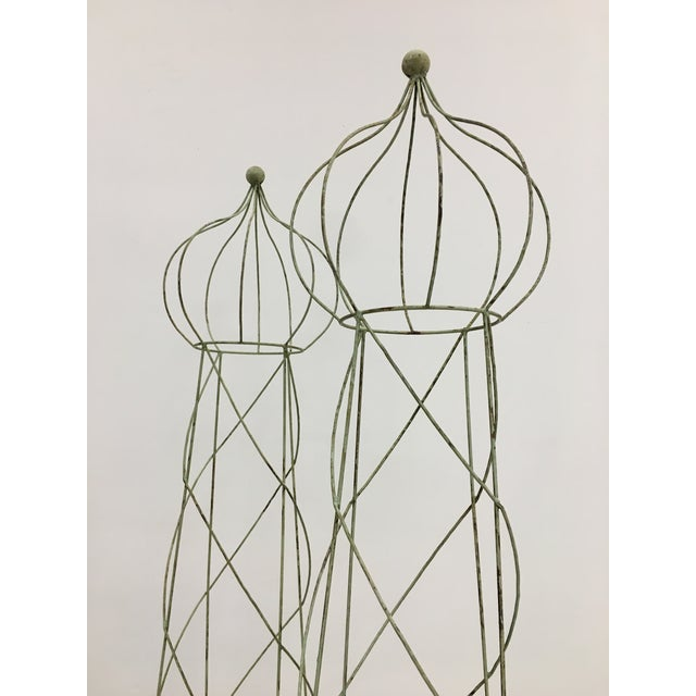 1950s Trellis Topiary 8 ' Tall - Set of 2 For Sale - Image 5 of 6