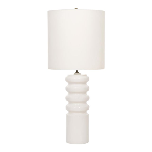 Mid-Century Modern Contour White Table Lamp For Sale