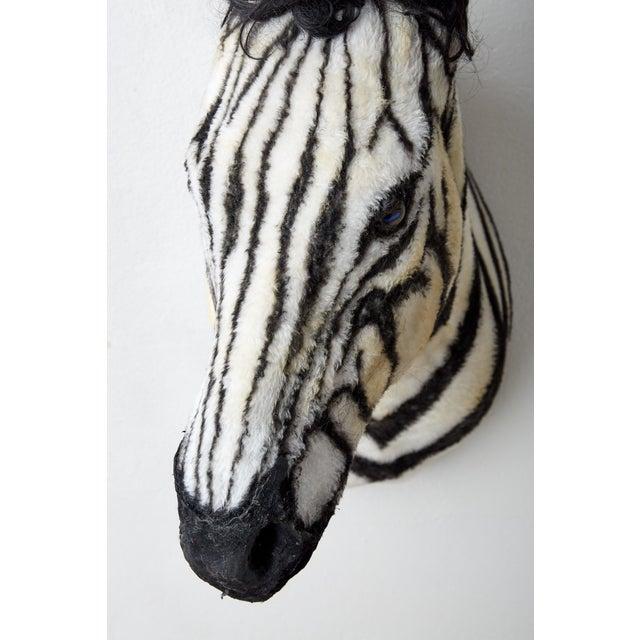 Artisan Sculpture of Zebra Using Faux Materials For Sale In Atlanta - Image 6 of 9