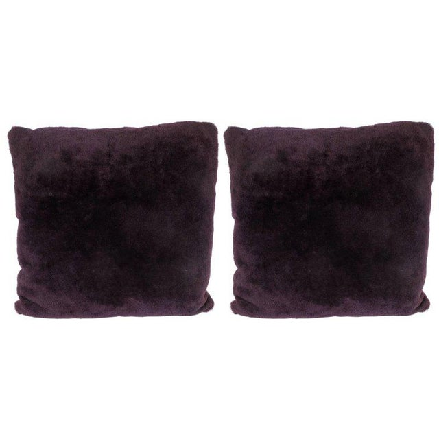 Custom Handmade Pillows in Luxe Smoked Amethyst Loro Piana Cashmere For Sale - Image 9 of 9