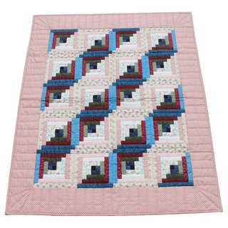 Log Cabin Crib Quilt From Pennsylvania For Sale