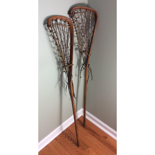 Cottage One Vintage Wood and Leather Lacrosse Stick - *** Only One Left**** For Sale - Image 3 of 7