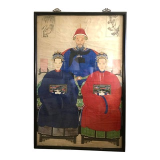 19th Century Chinese Ancestor Portrait For Sale