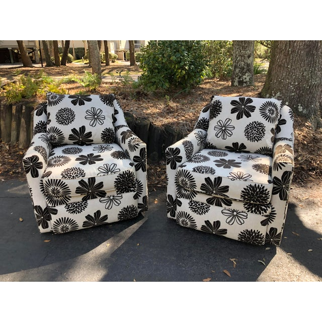 Rowe Furniture Swivel Chairs - a Pair For Sale - Image 12 of 12