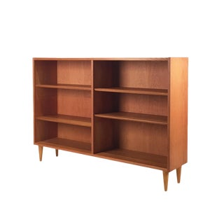 Vintage Danish Oak Bookcase For Sale