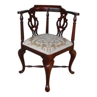 Thomasville Chippendale Style Corner Accent Chair For Sale