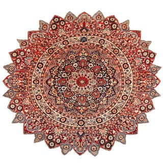 Round Antique Khorassan Persian Rug - 5′ × 19′ For Sale