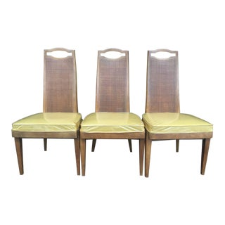 Drexel Cane High-back Chairs - Set of 3 For Sale