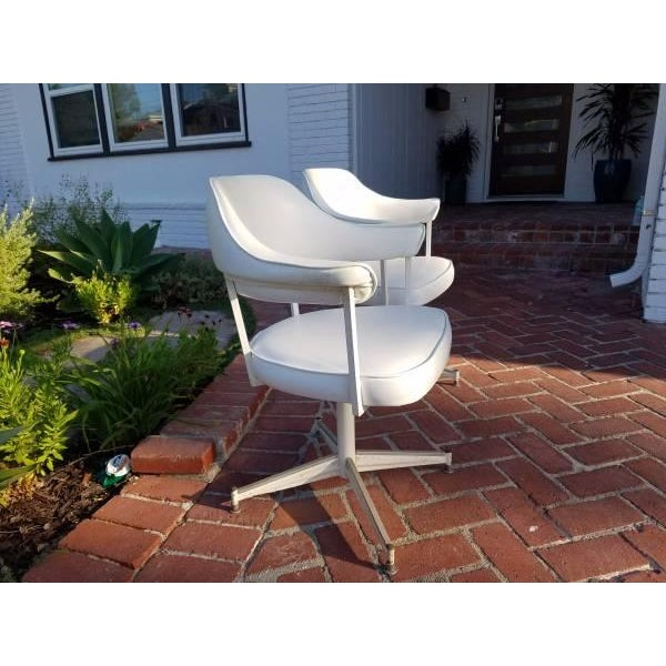Mid Century Swivel Office Chairs - Pair - Image 3 of 4