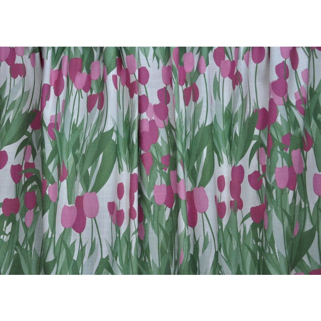 Contemporary In Bloom Fabric in Spinel Red, 5 Yards For Sale - Image 3 of 5