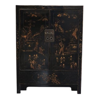 Late 20th Century Gilt Painted Cabinet For Sale