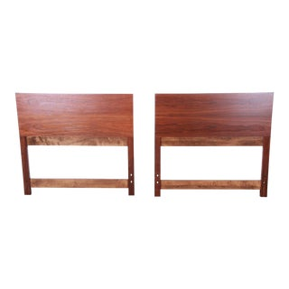 Paul McCobb for Calvin Mid-Century Modern Walnut Twin Headboards, Pair For Sale