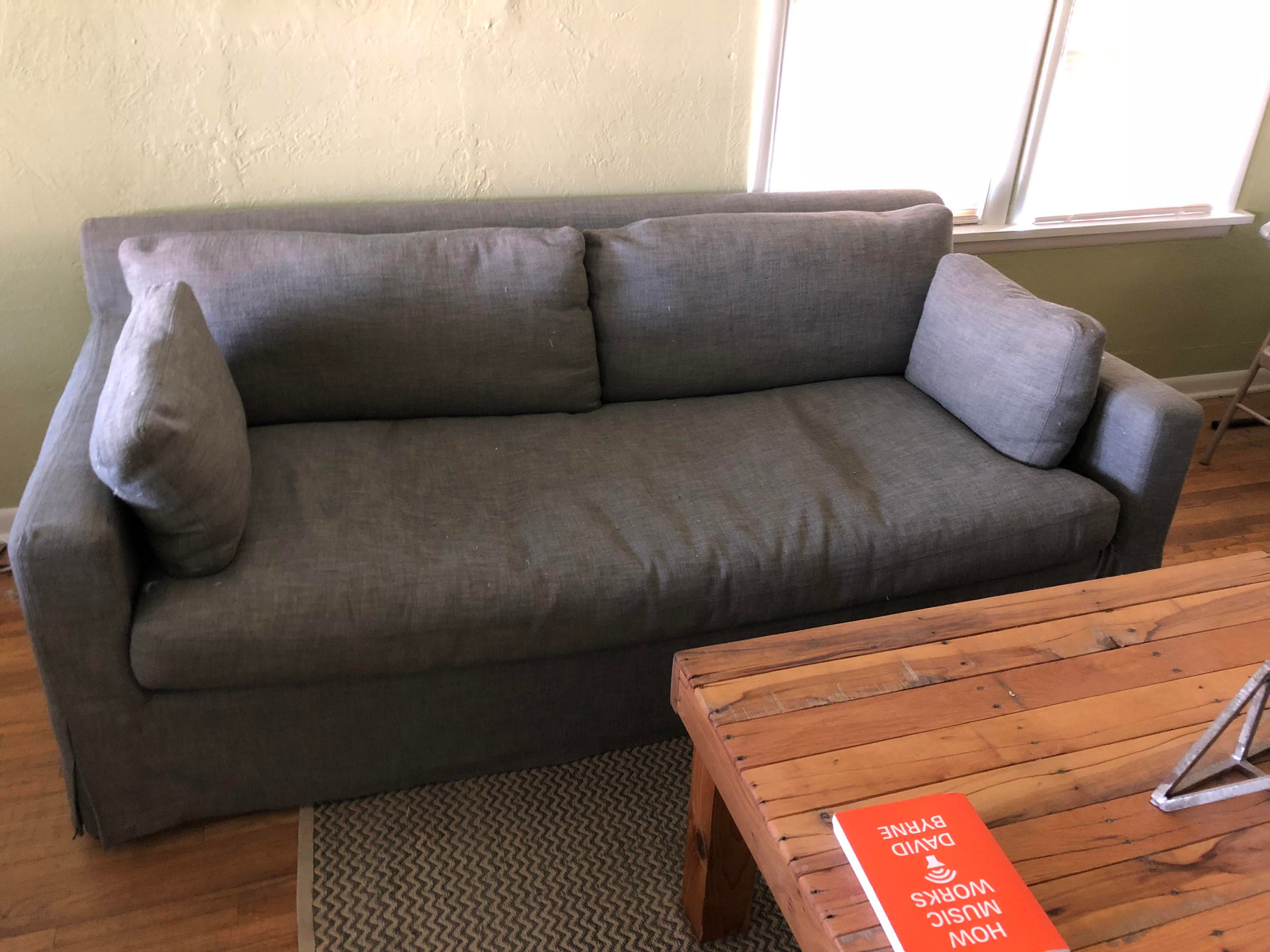 This Belgian Track Arm Slipcovered Linen Couch Cost Me Over $3500 Brand New.