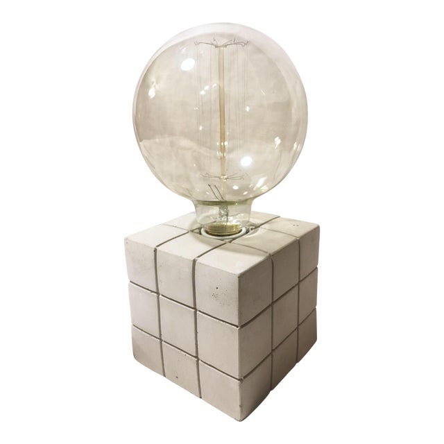 Cement Block Modern Table Lamp For Sale