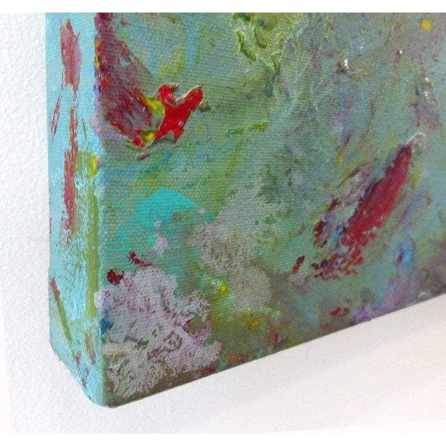 Diptych Abstract Paintings by Brazilian Artist Sandro War - A Pair For Sale - Image 4 of 11