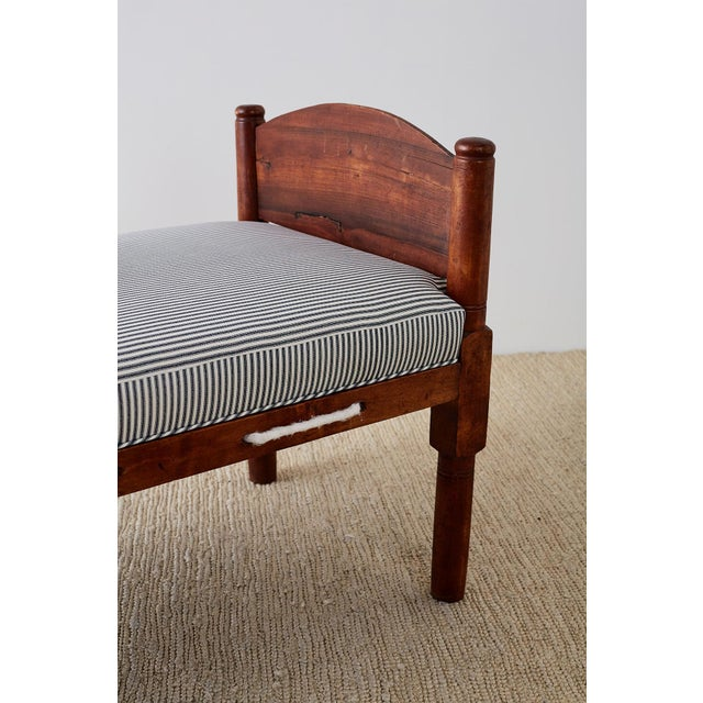 Nautical 18th Century New England Cherry Daybed or Rope Bed For Sale - Image 3 of 13