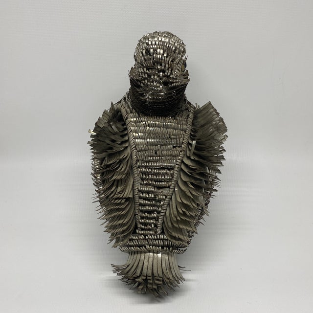Sergio Bustamante Metal Tin Bird Sculpture For Sale - Image 10 of 13