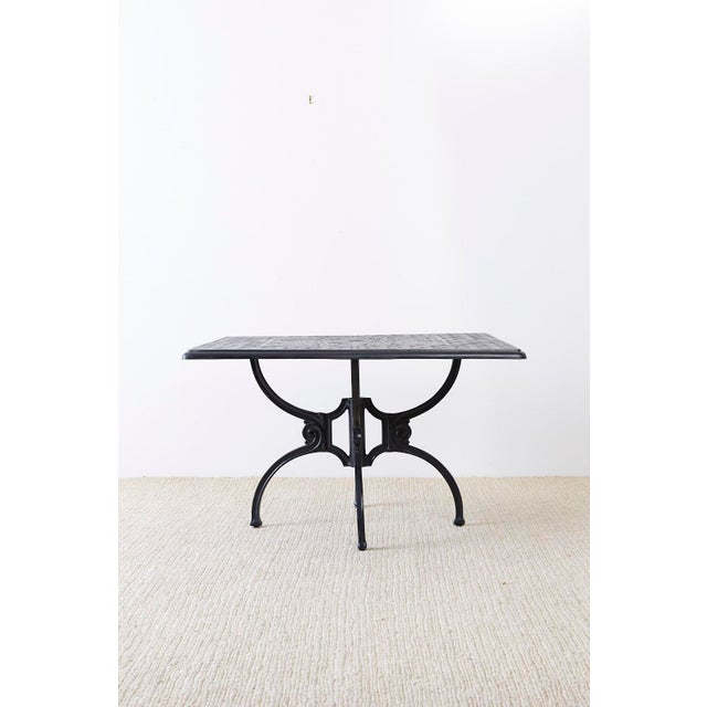 Neoclassical Neoclassical Molla Style Cast Aluminium Garden Dining Table For Sale - Image 3 of 13
