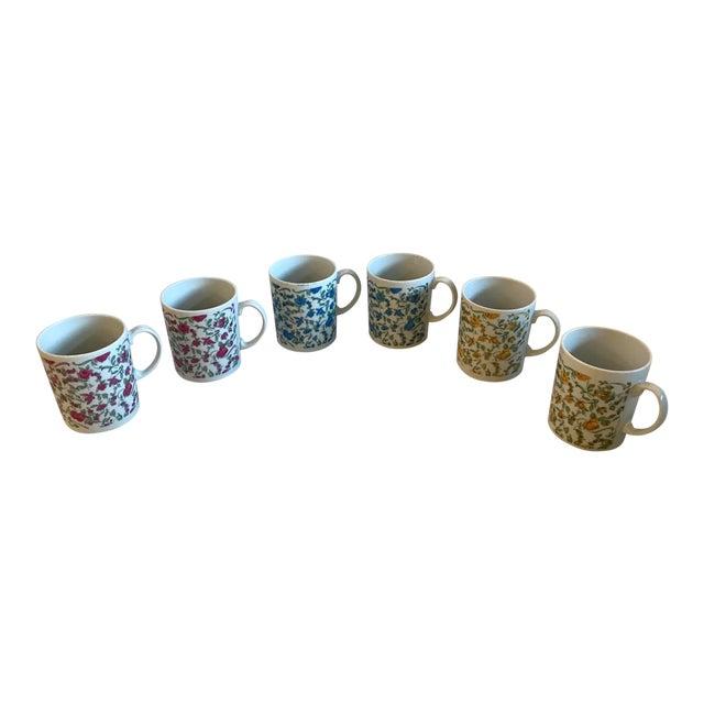 Vintage Japanese Ceramic Tea or Coffee Mugs - Set of 6 For Sale