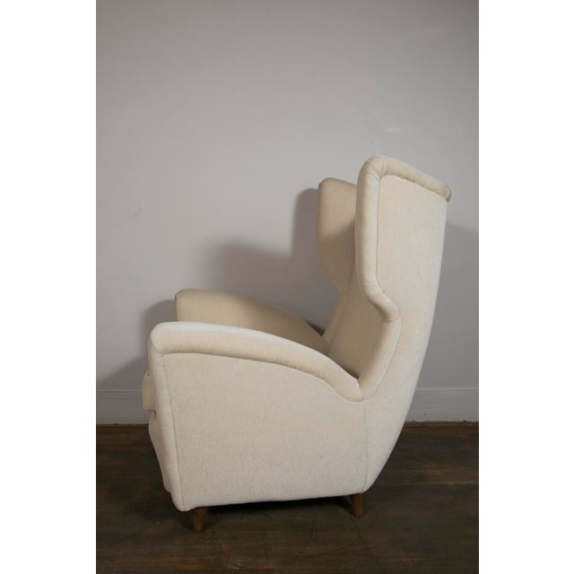 Pair of Wingback Chairs, Italy, 1950's For Sale - Image 6 of 10