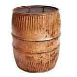 Image of Vintage Iron Barrel Side Table For Sale