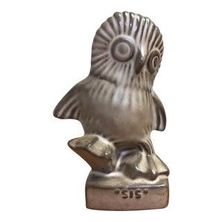BC Ceramics Small Gray Ceramic Owl For Sale