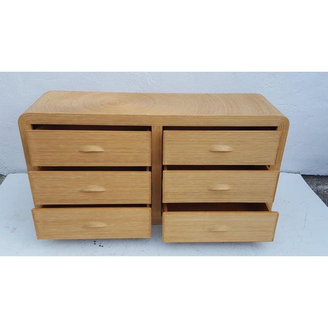 Gabriella Crespi Style Rattan Dresser. - Image 5 of 11